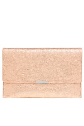 Rose Gold Envelope Clutch by Loeffler Randall