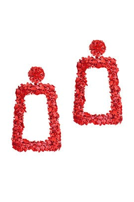 Red Fleur Dusk Earrings by Sachin & Babi Accessories