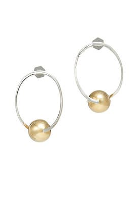 Solar Hoop Earrings by Sarah Magid