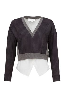 Midnight Stripe Sweater by 10 CROSBY DEREK LAM