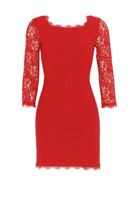 Red Zarita Sheath by Diane von Furstenberg