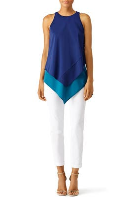 Navy and Teal Layer Top by Hunter Bell