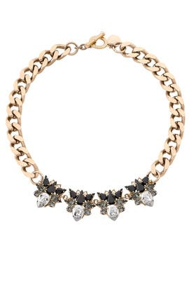 Multi Heart Crystal Necklace by Anton Heunis