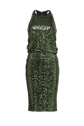 Evergreen Sequin Dress by Badgley Mischka