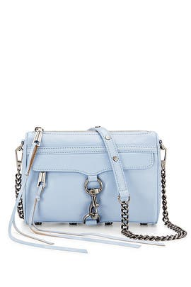 Blue Mini Mac Cross Body Bag by Rebecca Minkoff Handbags