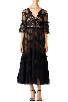 Black Midi Mast Dress