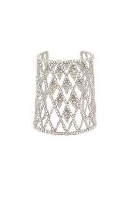 Crystal Encrusted Lattice Cuff by Alexis Bittar