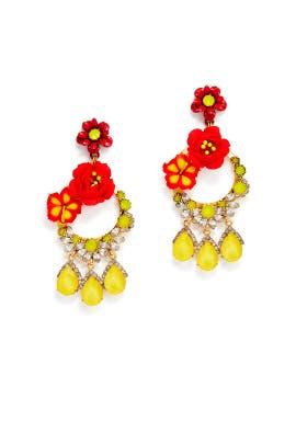 Fire Nelson Earrings by Elizabeth Cole