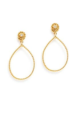 Golden Loop Earrings by Gerard Yosca