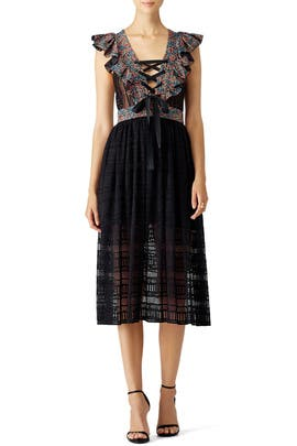 Philosophy di Lorenzo Serafini - Floral Crochet Midi Dress