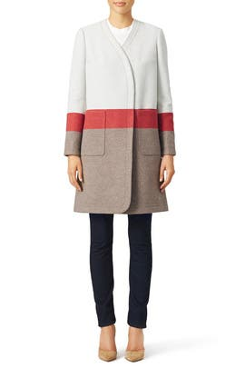 Stripe Blanket Coat by Tory Burch