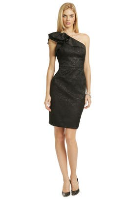 Black Truffle Dress by Carmen Marc Valvo