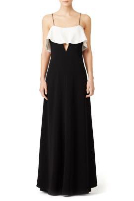 White Ruffle Gown by Jill Jill Stuart