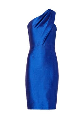 ML Monique Lhuillier - Sleek Cobalt Sheath