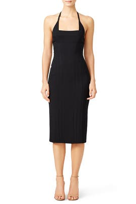 Black Scuba Crepe Dress by Narciso Rodriguez