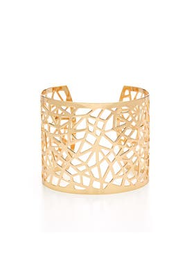 Gold Lattice Cuff by RJ Graziano