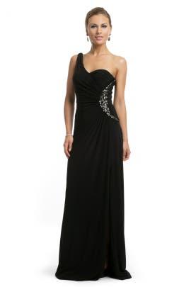 Blugirl - Black Beaded One Shoulder Gown