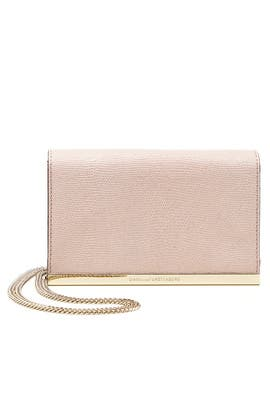 Pink Soiree Embossed Lizard Crossbody Bag by Diane von Furstenberg Handbags