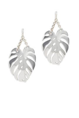 Silver Botanica Earrings by Lulu Frost