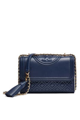 Navy Fleming Small Convertible Bag by Tory Burch Accessories