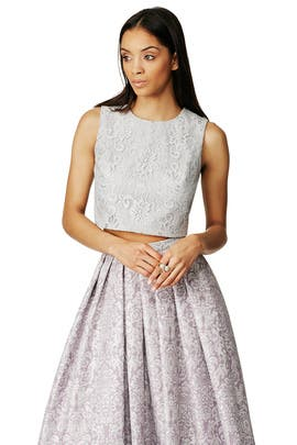 Lace League Top by Badgley Mischka
