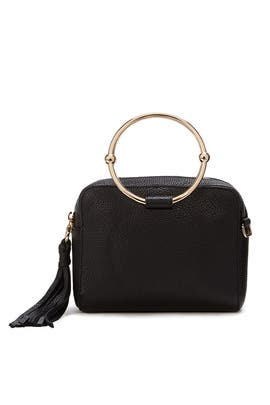 Black Astor Camera Bag by Milly Handbags