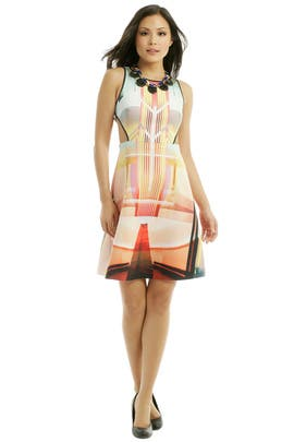 Fluorescent Lights Print Dress by Clover Canyon