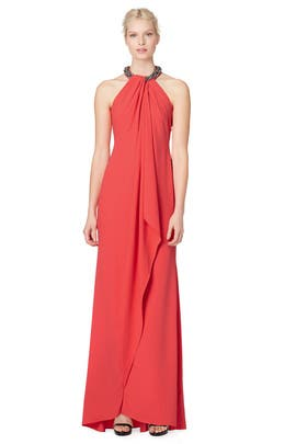 Coral Ella Gown by Carmen Marc Valvo