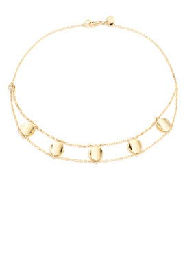 Gold Montero Choker by Elizabeth and James Accessories