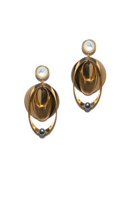 Gold Loop Voyage Earrings by Lizzie Fortunato