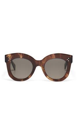 Brown Chris Oversized Sunglasses by Céline