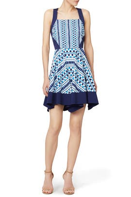 Geometric Grid Dress by Shoshanna