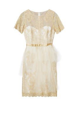 Ethereal Gold Dress by Marchesa Notte