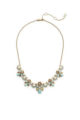 Mixed Stone Floral Necklace by Marchesa Jewelry