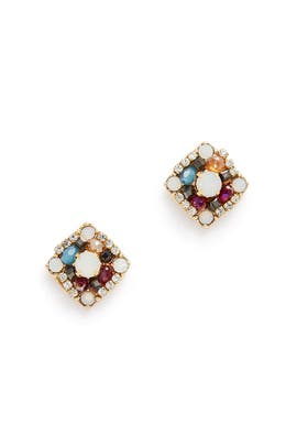 Berry Crystal Studs by Slate & Willow Accessories