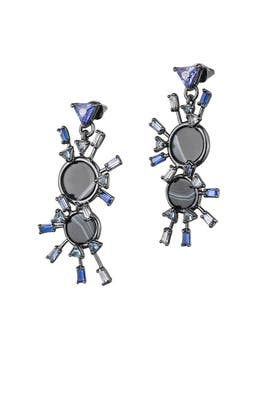 Gunmetal Europa Drop Earrings by Eddie Borgo