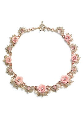 Blush Spring Meadow Collar by Marchesa Jewelry
