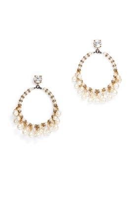 Pretty Women Hoop Earrings by Erickson Beamon