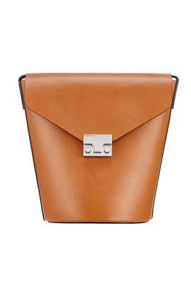 Brown Flat Bucket Bag by Loeffler Randall