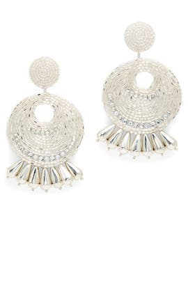 Silver Gypsy Hoop Earrings by Kenneth Jay Lane