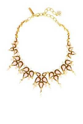 Cabochon Pearl Stone Necklace by Oscar de la Renta
