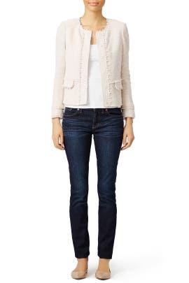 Blush Stretch Jacket by Rebecca Taylor