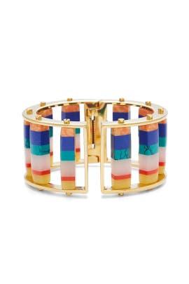 Striped Hinged Slider Bracelet by Lele Sadoughi