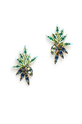 Blue Mohawk Earrings by Tova