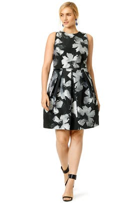 Painted Flowers Dress by Carmen Marc Valvo
