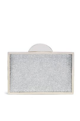 Silver Jeanine Clutch by Franchi