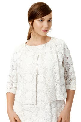Marina Rinaldi White Pixie Jacket