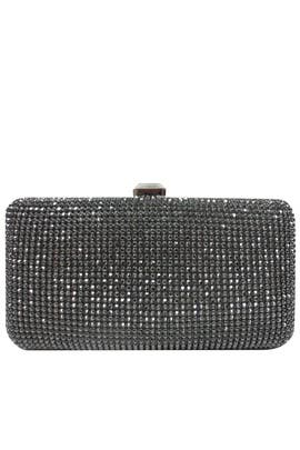 Pewter Pave Box Clutch by Sondra Roberts