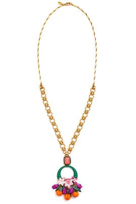 Pink Grady Necklace by Elizabeth Cole
