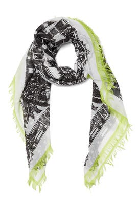 Echo Accessories - Neon Zebra Fringe Scarf